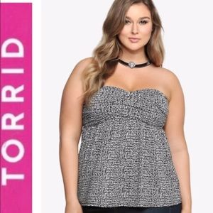 Black and White Criss Cross Tube Top